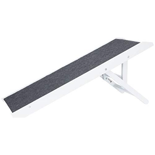 Trixie 39375 Rampe, höhenverstellbar, 36 × 90 cm, weiß