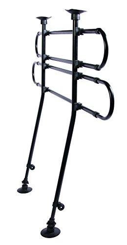 Trixie 1316 Auto-Gitter, gewinkelt, Breite: 85–140 cm Höhe: 75–110 cm, schwarz