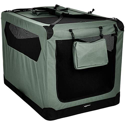 AmazonBasics - Hochwertige Haustier-Transportbox, faltbar, weich - 1 m, GRAU