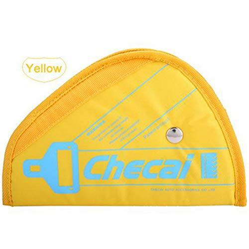 OPSLEA Auto-Sicherheitsgeschirr zur Anpassung von Sicherheitsgurten, Dreieck, Autozubehör, gelb, 22.5X15.5cm