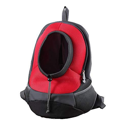 Ruilin Komfortabler Tragetasche für Hunde und Katzen, mit atmungsaktivem Kopf-Out-Design und gepolsterter Schulter für Wandern im Freien