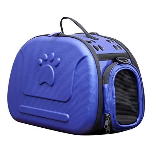 MEIHAO Tragbarer Haustierrucksack Soft-Sided Collapsible Eva Pet Travel Carrier mit Mesh-Fenstern, poröses Design, ideal für kleine Hunde und Katzen,Blue