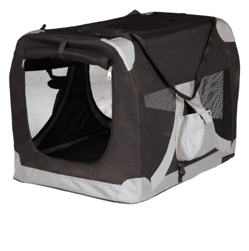 Trixie 39711 Mobile Kennel, XS–S: 35 × 35 × 50 cm, schwarz/grau