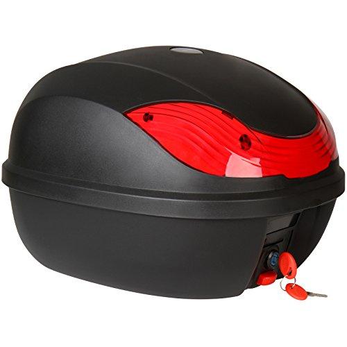 Abnehmbarer TopCase Motorradkoffer - Volumen 27 Liter, Schwarz - Motorradzubehör, Topcase Roller, Helmkoffer, Top Box für Helm