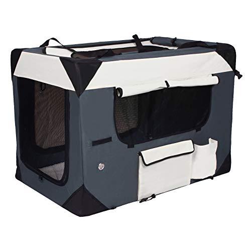 Laneetal Faltbare Hundebox Transportbox mit Henkel Textilien Oxford luftige Tiertragetasche Klappbar 0460045