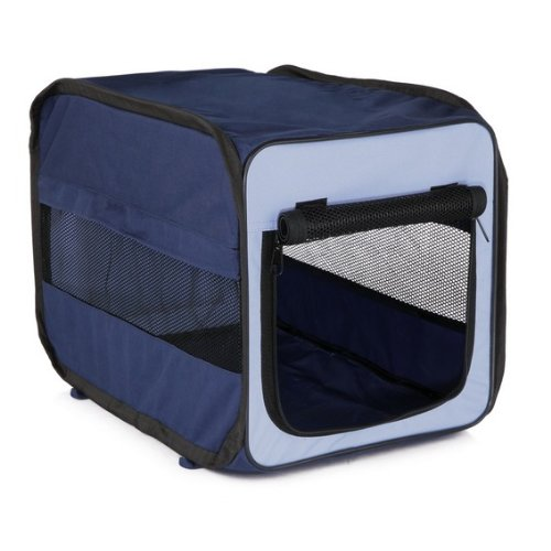 Trixie 39692 Mobile Kennel Twister, S: 45 × 45 × 64 cm, dunkelblau/hellblau