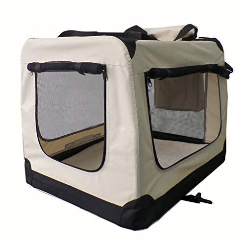 Sam´s Pet Faltbare Hundetransportbox Lassie Größe XL | beige | Stoff | Transportbox große Hunde & Katzen | Hundebox Autobox Reisebox Auto Kofferraum