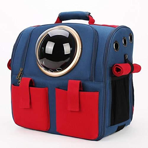Cjzdcwb Tragbarer Reisehaustier-Rucksack, Space Capsule Bubble Design, wasserdichter Handtaschenrucksack für Katzen und kleine Hunde (Color : Red)