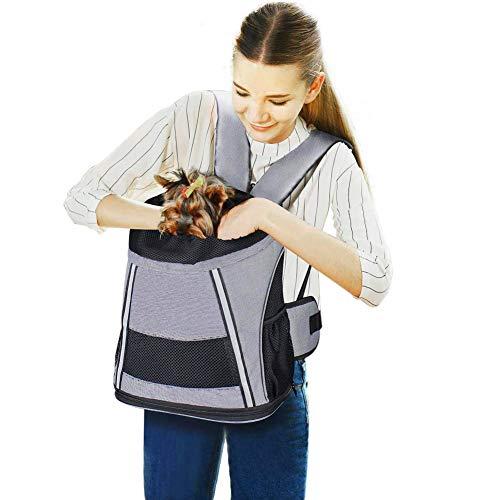 Petcomer SBC5171-B Hund Rucksack Katze Transsporttasche Haustier Tragtasche für Haustier, Einheitsgröße, grau