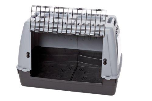 Karlie Transportbox Cargo für Hunde, 77 x 43 x 51 cm, grau