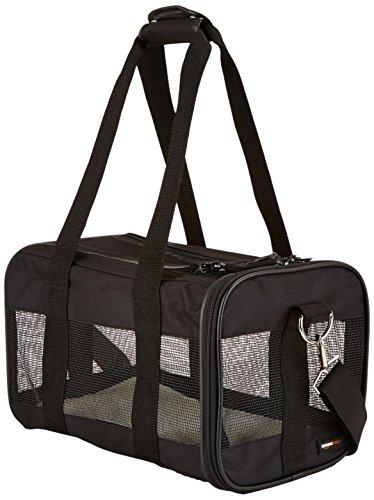 AmazonBasics Transporttasche für Haustiere, weiche Seitenteile, Schwarz, Größe S