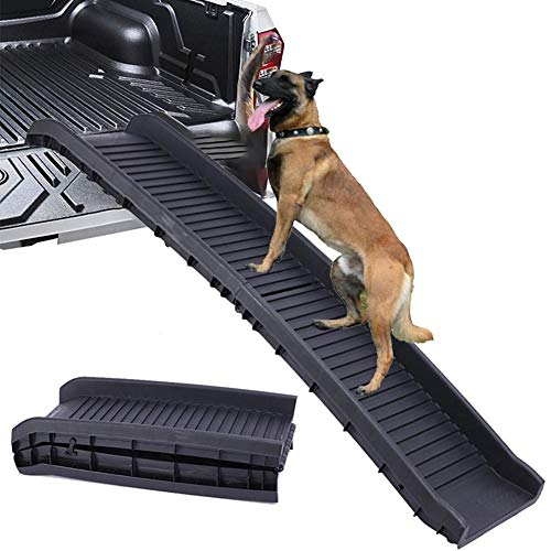 ZTGHS Auto Hund Rampe Klapp Haustier Rampe, Leichte Kofferraum Rücksitz Leiter Schritt Mit Rutschfester Oberfläche Auto Montiert Treppenleiter Unterstützt Bis Zu 165Lb