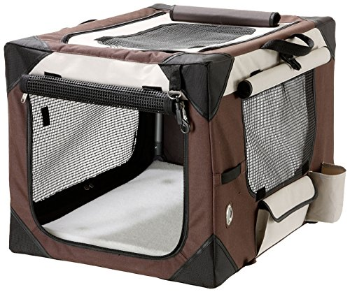 Karlie Smart Top de Luxe Hunde Transportbox, 91 X 61 X 58 cm, beige/bruan