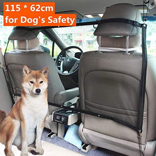Mioke Auto Hundenetz,Auto Sicherheitsnetz für Hund Katze, Barriere Haustier Trennnetz Schutznetz Für Sichere Reise Autonetz 112 x 62cm