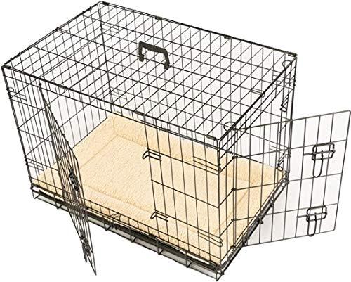 Maxx - Hundekäfig 1 Tür - Hundebox Transportkäfig - aus extra starkem Draht stabil und zusammenfaltbar - 63 x 43 x 48cm