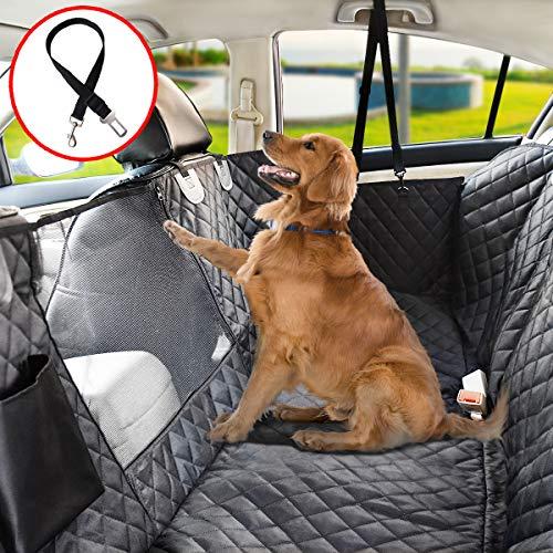 Vailge Autoschondecke für Hunde Rücksitz rutschfeste Hundedecke Auto Rückbank wasserdichte mit Sichtfenster, Kofferraumschutz Hund mit Sicherheitsgurt für Car Auto Van SUV (X-Large(152cm W x162cm L))