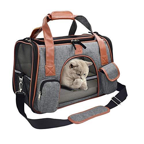 prom-note Hunde Tragetaschen Transporttasche Katze Faltbar Aus Oxford Nylon Mit Atmungsaktiven Netzfenster Für Kleinen Hund Welpen Katze - 43 25 28 cm
