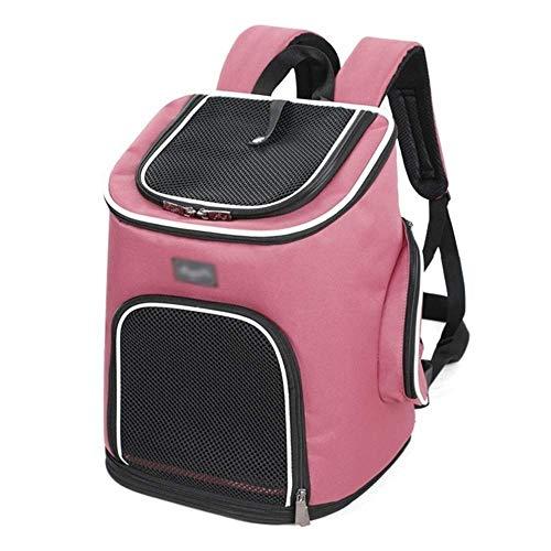 Cjzdcwb Pet Carrier Backpack - für kleine Hunde und Katzen, belüftetes Abfallbeutel-Design, Sicherheitsgurt, Schnallenstütze |Entwickelt für Reisen, Wandern & Outdoor (Color : Wine Red)