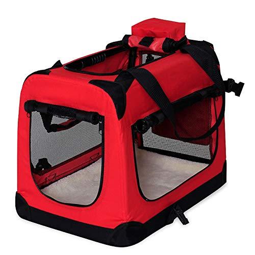 dibea Hundetransportbox Hundetasche Hundebox Faltbare Kleintiertasche Größe XL Farbe Rot