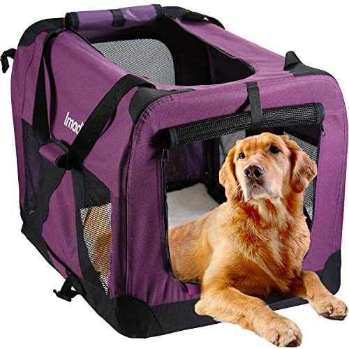 PETTOM Transportbox Faltbar Oxford Material Wasserdichtes Hundetransportbox Atmungsaktivem Mesh Non-Toxic Transportbox Hunde Katzen