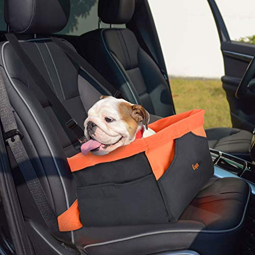 Legendog Autositz Hund, Transportbox für Hunde | Wasserdichter Autositzbezug für Hunde | mit Kissen und verstellbarem Gurt | Welpen Katzen | 41 * 32 * 21 cm (chwarz)