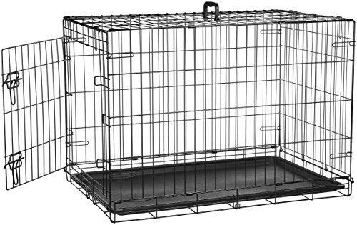 AmazonBasics Hundekäfig mit 1 Tür, Metall, zusammenklappbar, Gr. M