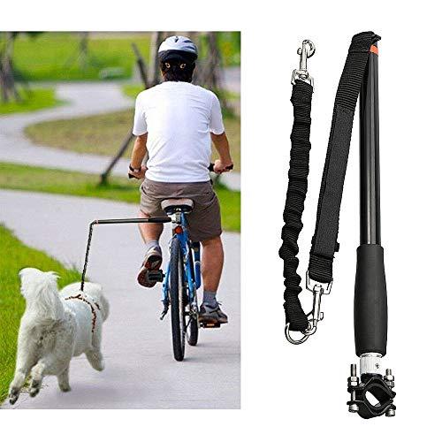 Decdeal Hunde Fahrradleine Fahrradhalter Abstandhalter Elastische Hund Laufleine