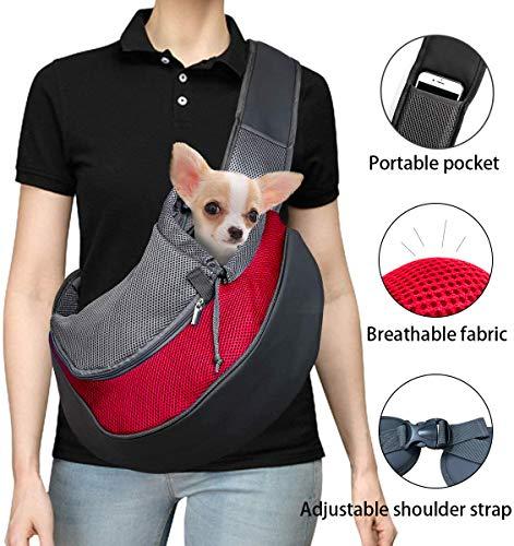 DMSL Hundetasche Tragetuch Hund Hundetragetasche Transporttasche Transportbox für Kleine Hunde und Katzen -um Ihr Tier sicher und komfortabel zu halten,Kann weniger als 5 kg tragen, 37 x 29 x25 cm