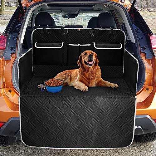 Toozey Völliger Kofferraumschutz für Hund mit 3 Aufbewahrungstaschen - Reißfeste&Wasserdichter Hundedecke Kofferraum Auto mit Seitenschutz Schützt vor Schmutz, Kratzern und Hundehaaren