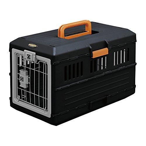 IRIS, faltbare Transportbox für Hunde und Katzen FC-550, Kunststoff, schwarz, 55 x 31,5 x 36,4 cm