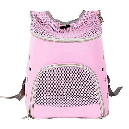 Cjzdcwb Premium Pet Carrier Rucksack für kleine Katzen und Hunde |Belüftetes Design, Sicherheitsgurt, Schnallenstütze |Entwickelt für Reisen, Wandern & Outdoor (Color : Pink)