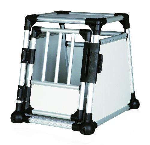 Trixie 39340 Transportbox, Aluminium, S: 48 × 57 × 64 cm, silber/hellgrau