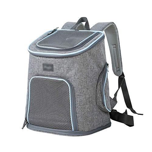 Cjzdcwb Pet Carrier Backpack - für kleine Hunde und Katzen, belüftetes Abfallbeutel-Design, Sicherheitsgurt, Schnallenstütze |Entwickelt für Reisen, Wandern & Outdoor (Color : Denim Blue)