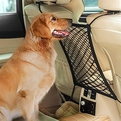 Colorful Auto Organizer Netz,Hunde Rücksitz Barriere Pet Sicherheit Netz Barrier, Auto-Haustier Sicherheitsnetz Fahrzeug Hunde Gepäcknetz Rücksitz Hund Schutznetz
