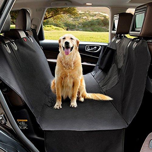 Autoschondecke MATCC Hundedecke Auto Rückbank Autoschutzdecke Hund Mit visuelles Sicherheitsnetz Design Rutschfest Wasserdicht Hundeschutzdecke Auto Autodecke Hund Für Rückbank (147 * 137cm)